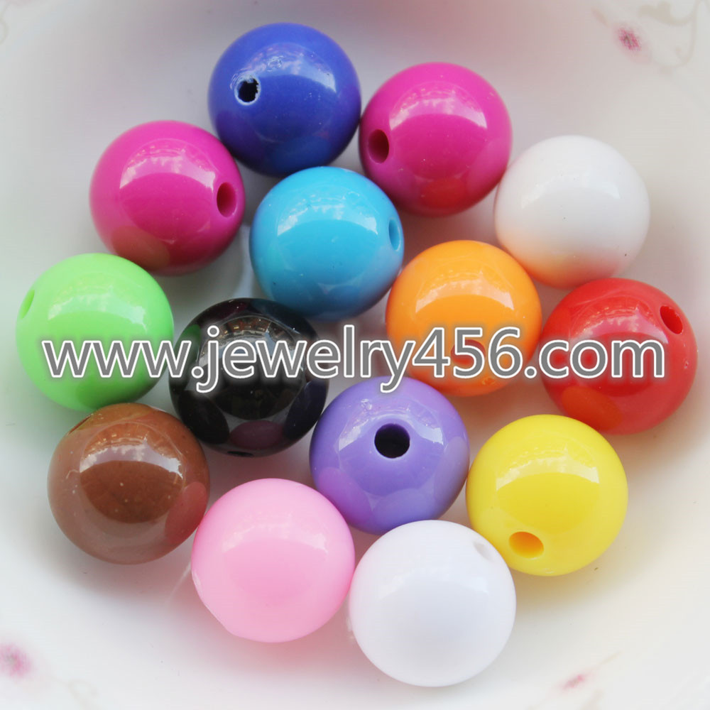 8MM Lot of Colored Round Gemball Acrylic Beads Making-YA001-8