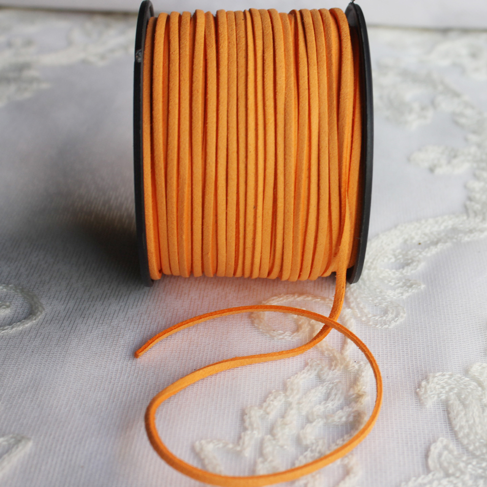 100 Yards 3mm Wide Jewelry Making Flat Micro Fiber Lace Faux Suede Leather Cord