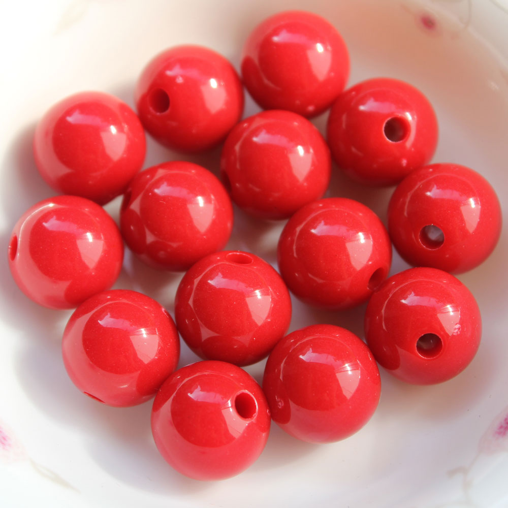 6MM Loose Colors Round Acrylic Beads Design-YA001-6