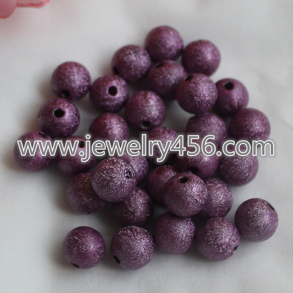 4mm-20mm Round Plastic Stardust Beads