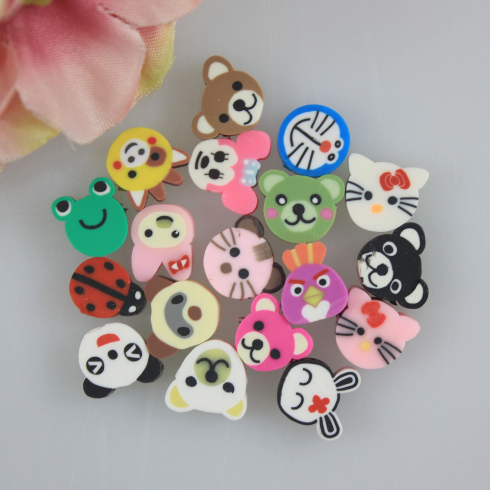 Mixed Color Fimo Polymer Clay Animal Spacer Beads