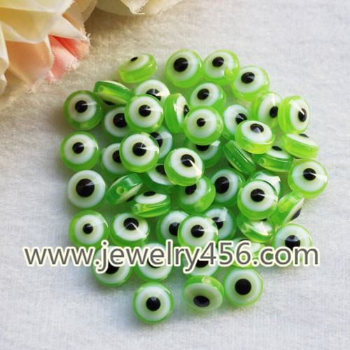 Colorful Round Evil Eye Resin Beads Spacer Beads For Bracelet Jewelry DIY Making Accessories Finding