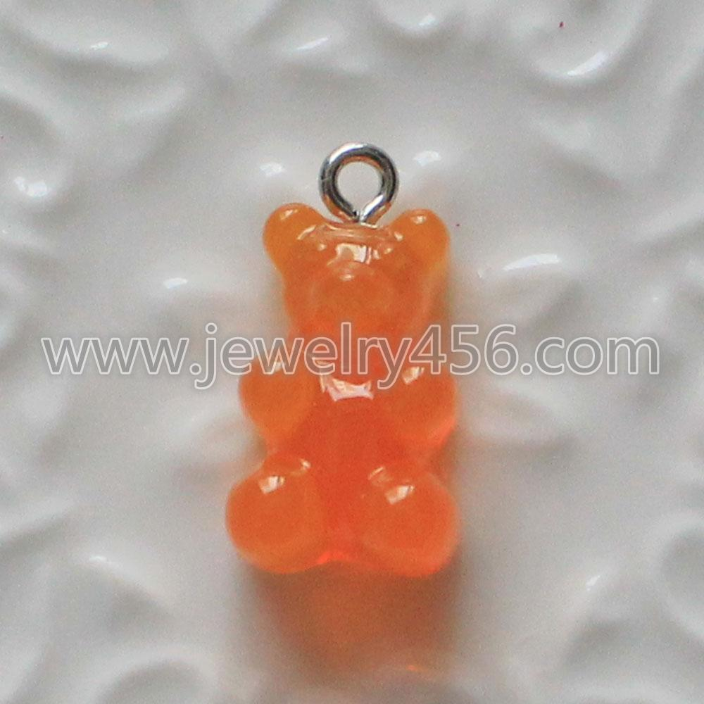 Mixed Flat Back Resin Gummy Bear Charm Kawaii DIY Embellishments For Scrapbooking Accessories